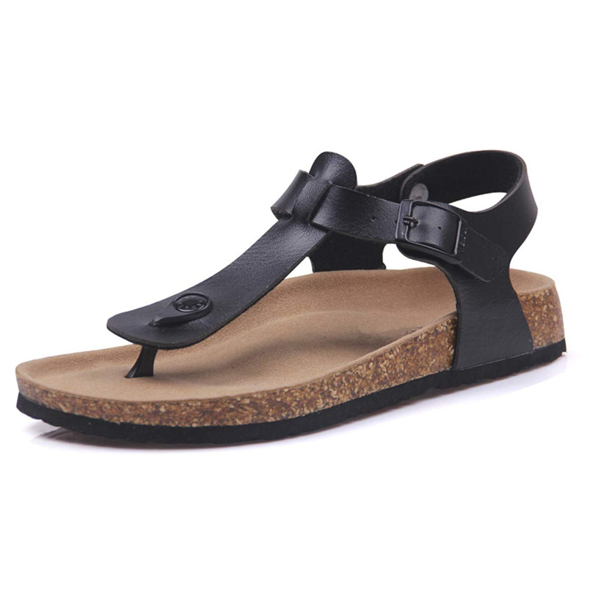 Micca Bacain Fashion Cork Sandals Flip New Women Summer Buckle Strap Solid Beach Slipper Flip Sandals Flops Sandals Shoe Flat Plus Size B07GBV4MM2 5 M US|Beige c3ca28