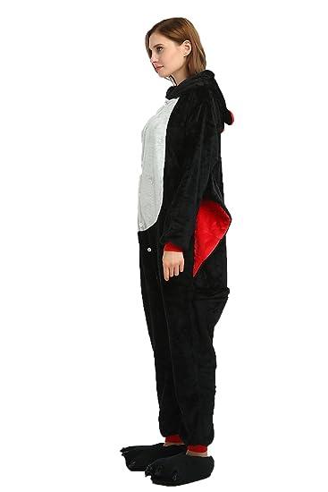 01c437c7d40e5 Flanelle Pyjama Combinaisons Animaux Femme Homme Grenouillère Kigurumi  Adulte Pyjamas Costume Onesie  Amazon.fr  Vêtements et accessoires
