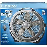 20 Energy-efficient Wind Machine Indoor Pivoting Floor Fan, White