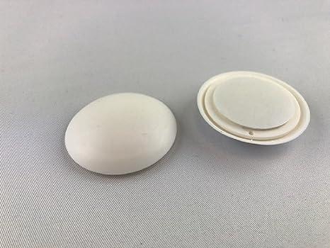 1 Stück Wandpuffer Türpuffer Anschlagpuffer weiß x 40 mm selbstklebend rund