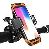 TaoTronics Handyhalterung Fahrrad Handyhalter Fahrrad, Telefonhalter Motorrad mit Ein-Knopf-Freigabe, 360° drehbarem Gelenk & Dreifachschutz