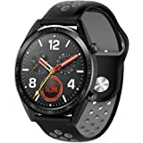 TTAON Silicone Sports Watch Strap Replacement Watch Band Wrist Strap For Huawei Watch GT Black