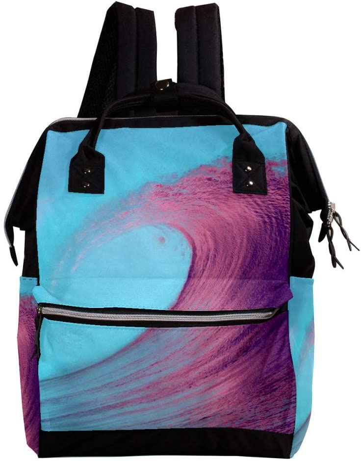 Indimization Beach Wave Casual Daypack Leather Backpacks,Fashion Travel School Bag,College Student Bags for Boys /& Girls Holds 27x19.8x36.5cm//10.6x7.8x14in
