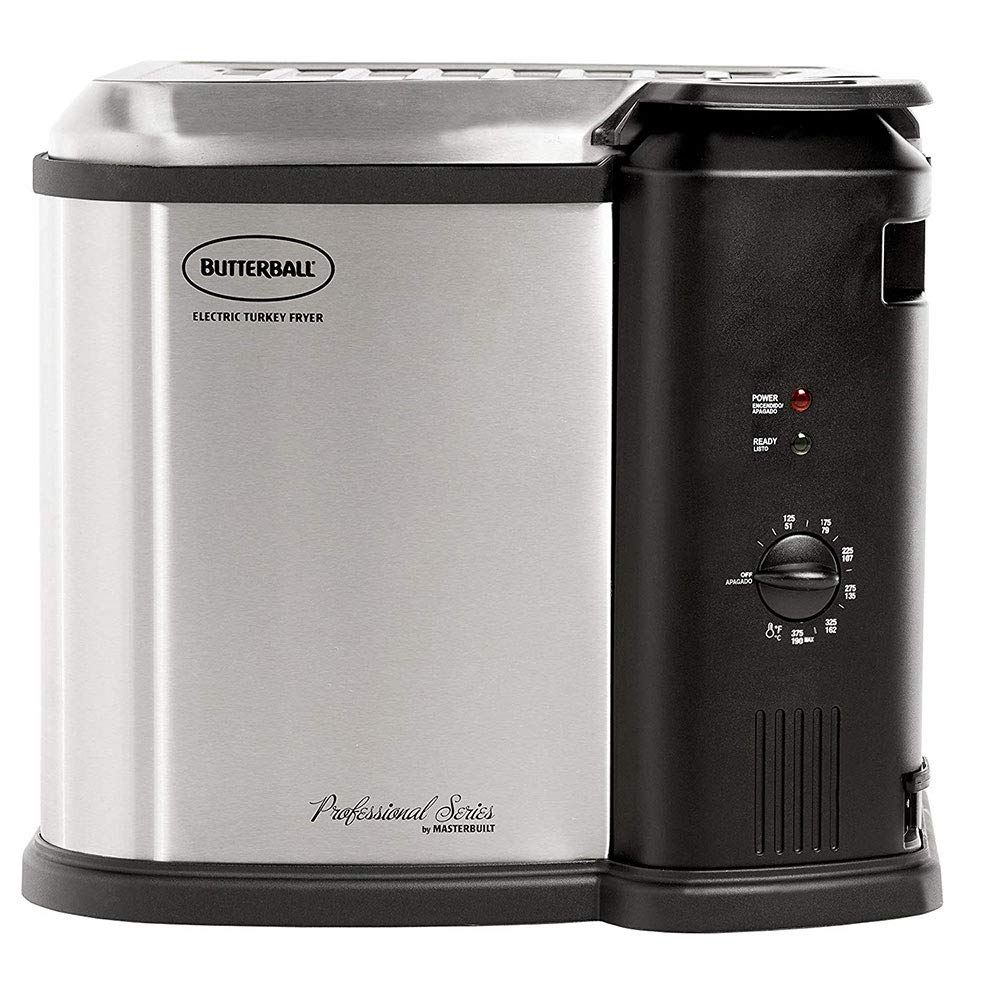 Butterball 23010115 MB23010118 Electric Fryer Large Stainless Steel//Black