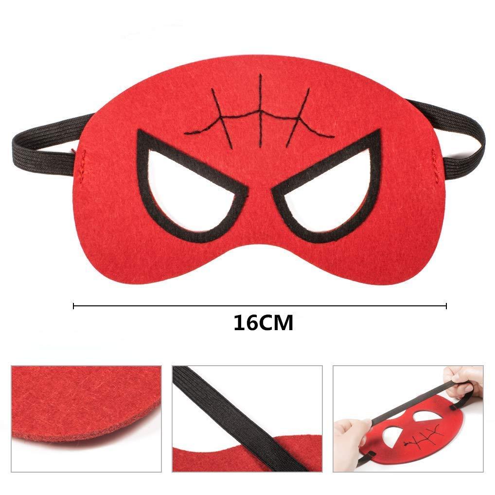 32 Pieces Masques de Super-H/éros doeil Masques Masques pour Enfant avec Corde /Élastique pour la Partie et Maternelle Febbya Masques Super H/éros Masques