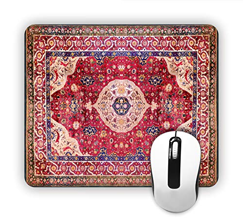 - Jacks Outlet Persian/Oriental Rug-Mat- Square Mousepad - Stylish, Durable Office Accessory and Gift