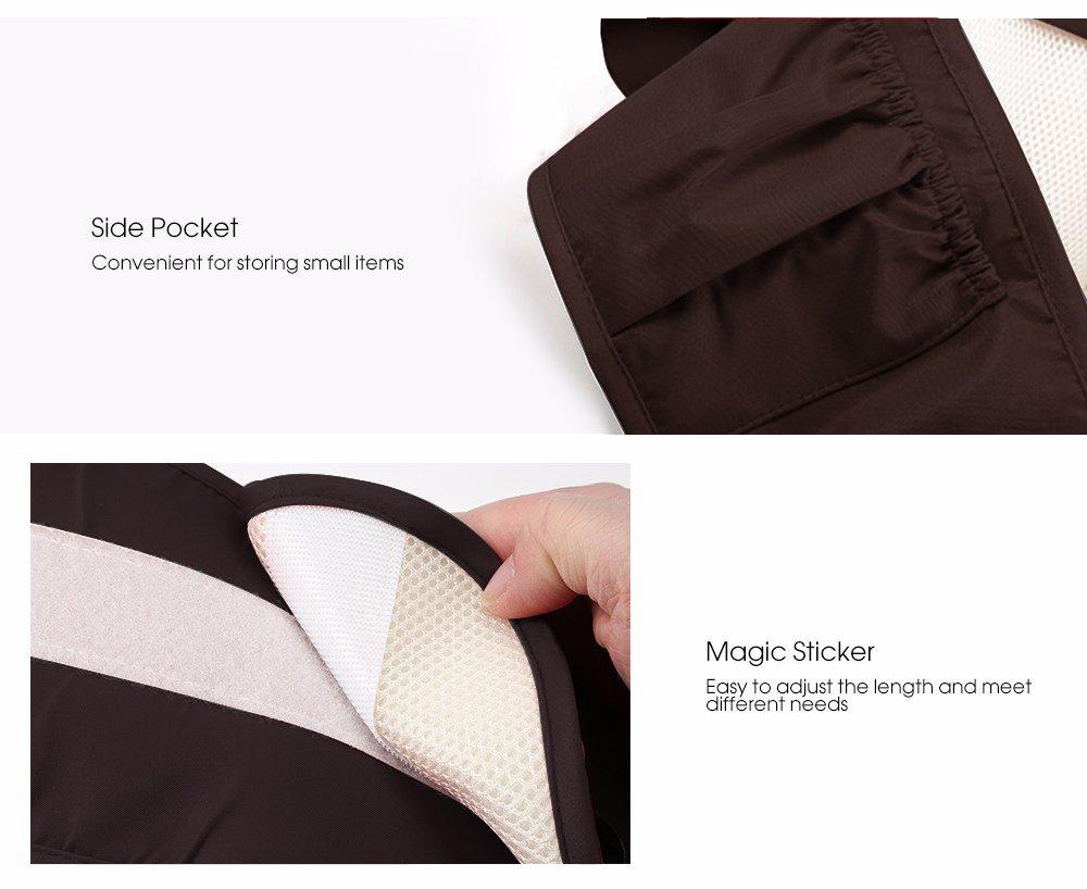 Portabeb/é Asiento de Cadera Cintura de Taburete Baby Waist Stool Posiciones Asiento Multifunci/ón Mochila de Honda Seguro Hebilla para 0-36 meses Ni/ños Caf/é