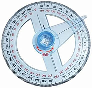 Protractor Durable Office Portable Multifunction Measuring Tool gh Accuracy School Drawing Angle Professional