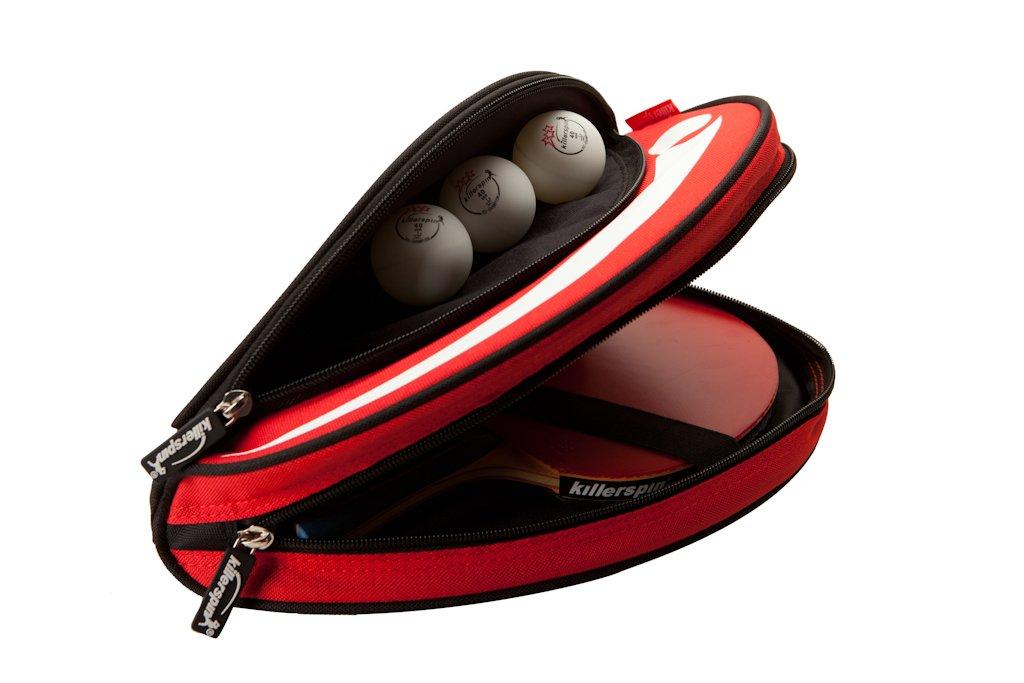 Killerspin Barracuda Table Tennis Paddle Bag, Paddle Bag, Red, Royal, Black