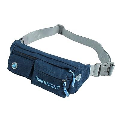 Sourcingmap® Freeknight agréé Unisexe en nylon Portable Outdoor Cyclisme randonnée Pouch Course Jogging Sports Tour de taille Lot Sac