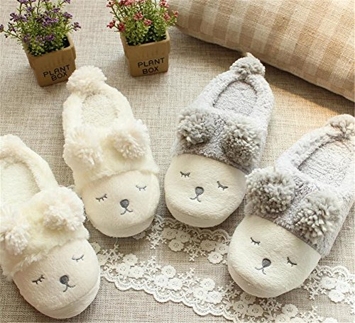 Cotton Slippers Indoor White Aksautoparts Sheep Adult Cartoon Shoes Warmth Little xgAwCO