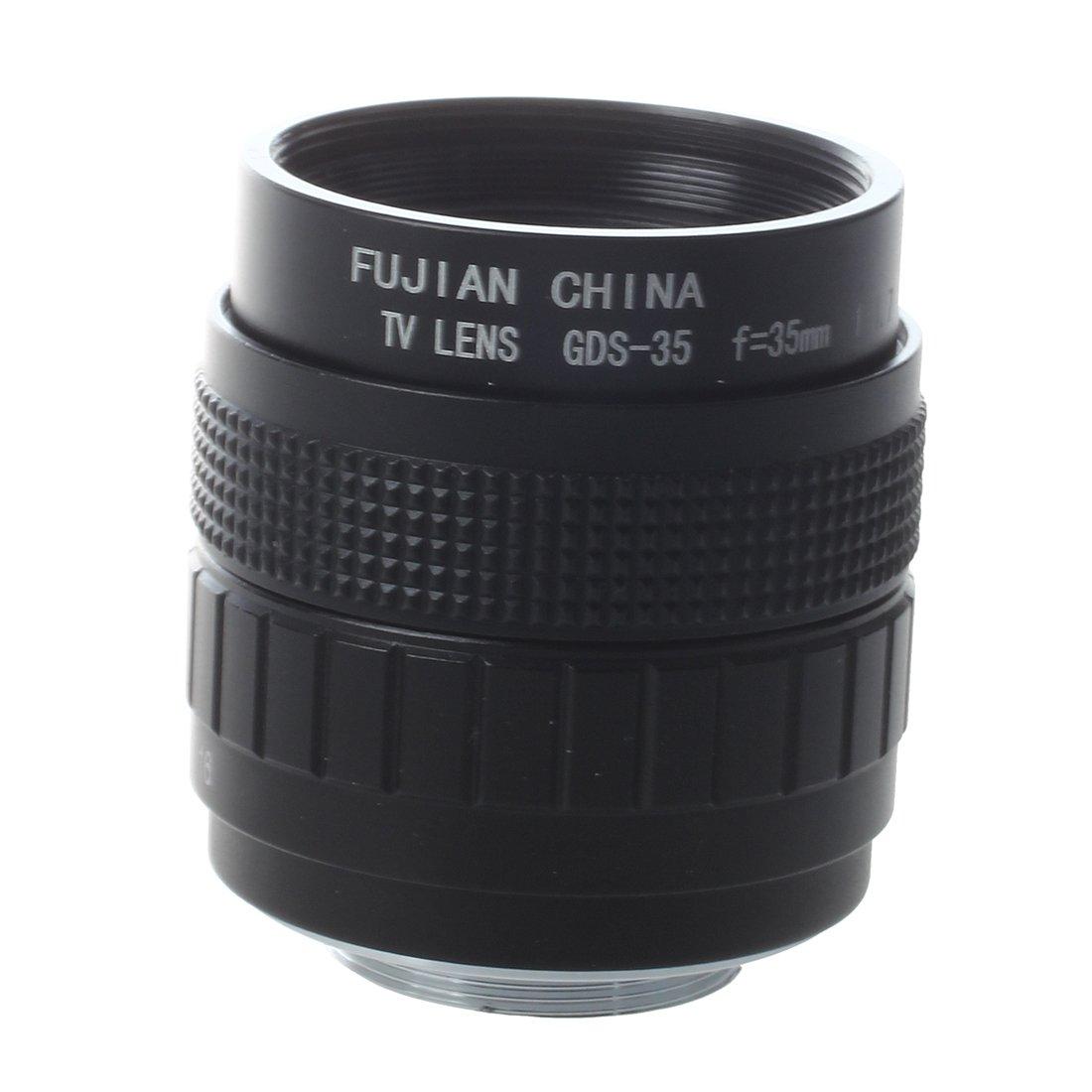 SODIAL(R)35 mm F1.7 C Mount CCTV Lens Black for M4/ 3 Camera Olympus PEN E-PL5 E-PM3 024086