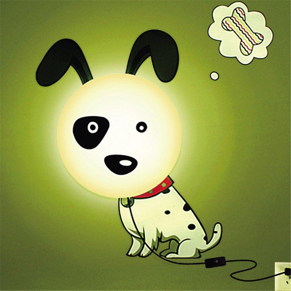 Dormitorio de perro luz de noche creativo 3D wallpaper bricolaje pared lámpara de luces de cama, luces pared lateral, 25W, Ø 28 cm Homelike Light DE-00093