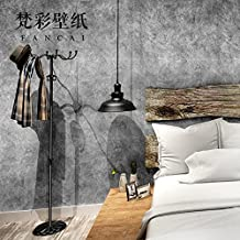 SAEJJ-American retro industrial wind plain pure cement restaurant clothing store personality non-woven wallpaper wallpaperA