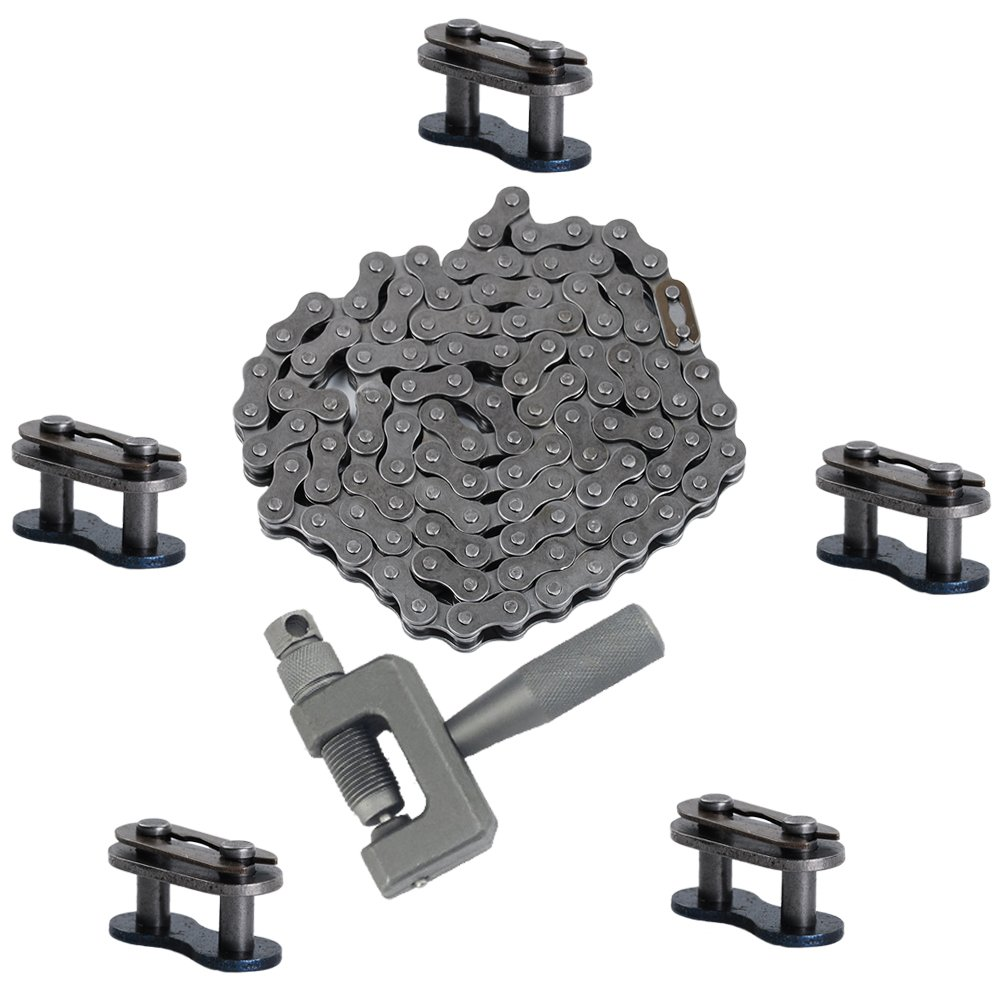 SaferCCTV Chain Breaker Cut Link Remove Tool for 49cc to 80cc 2-Stroke Engine Motorized Bicycles TM 415 Chain Black Master Link 415 Heavy Duty Chain