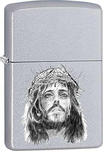 Zippo Personalized Message Engraved on Backside Jesus Christ, Thorns Windproof Zippo Lighter