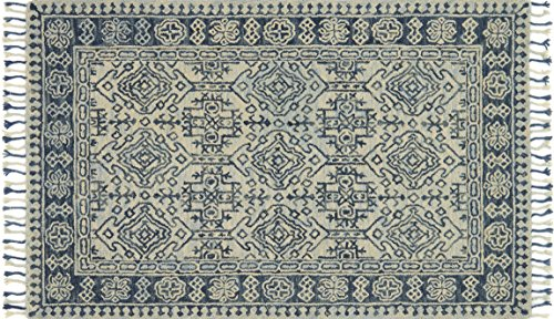 - Loloi Rugs, Zharah Collection - Mist / Blue Area Rug, 5' x 7'6