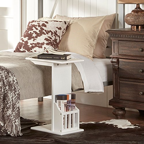 Side Tables with Magazine Rack Snack Tray Organizer Tv Tr...