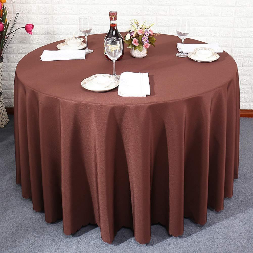XBSLJ Mantel de Mesa Redonda Cuadrado Mantel de Liso con Color ...