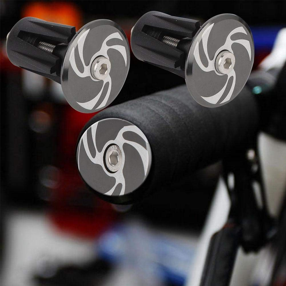 Embouts de Guidon pour la Plupart des v/élos VTT et BMX VTT SolUptanisu 1 Paire de guidons de v/élo en Alliage daluminium Bouchons de Capuchons de v/élo de Route v/élos de Route poign/ées de Barre