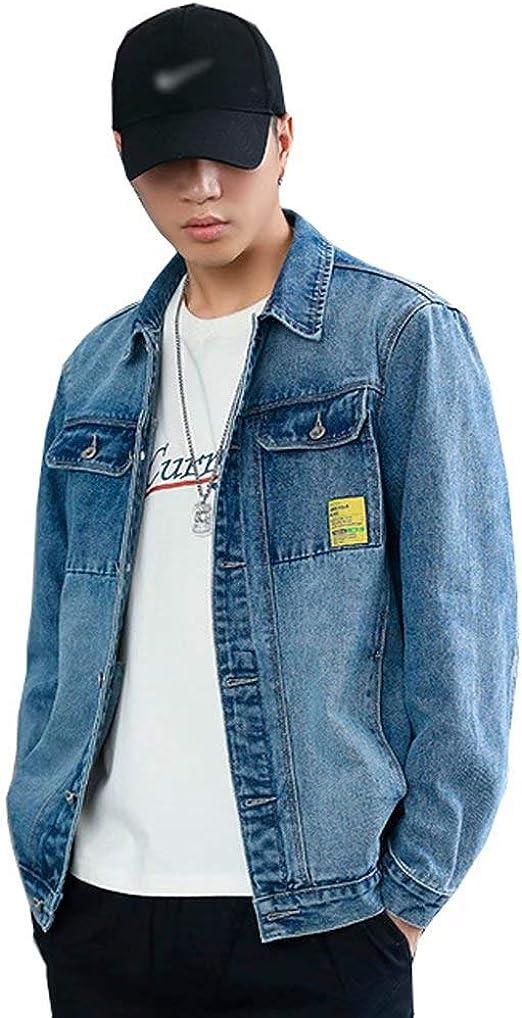 Tasahaya デニムジャケット メンズ 綿 ジージャン カジュアル アウター 春秋 通勤 通学 大きいサイズ M-7XL