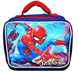 SPIDER-MAN MARVEL COMICS 3-D Lead Safe Insulated Lunch Tote Box Bag