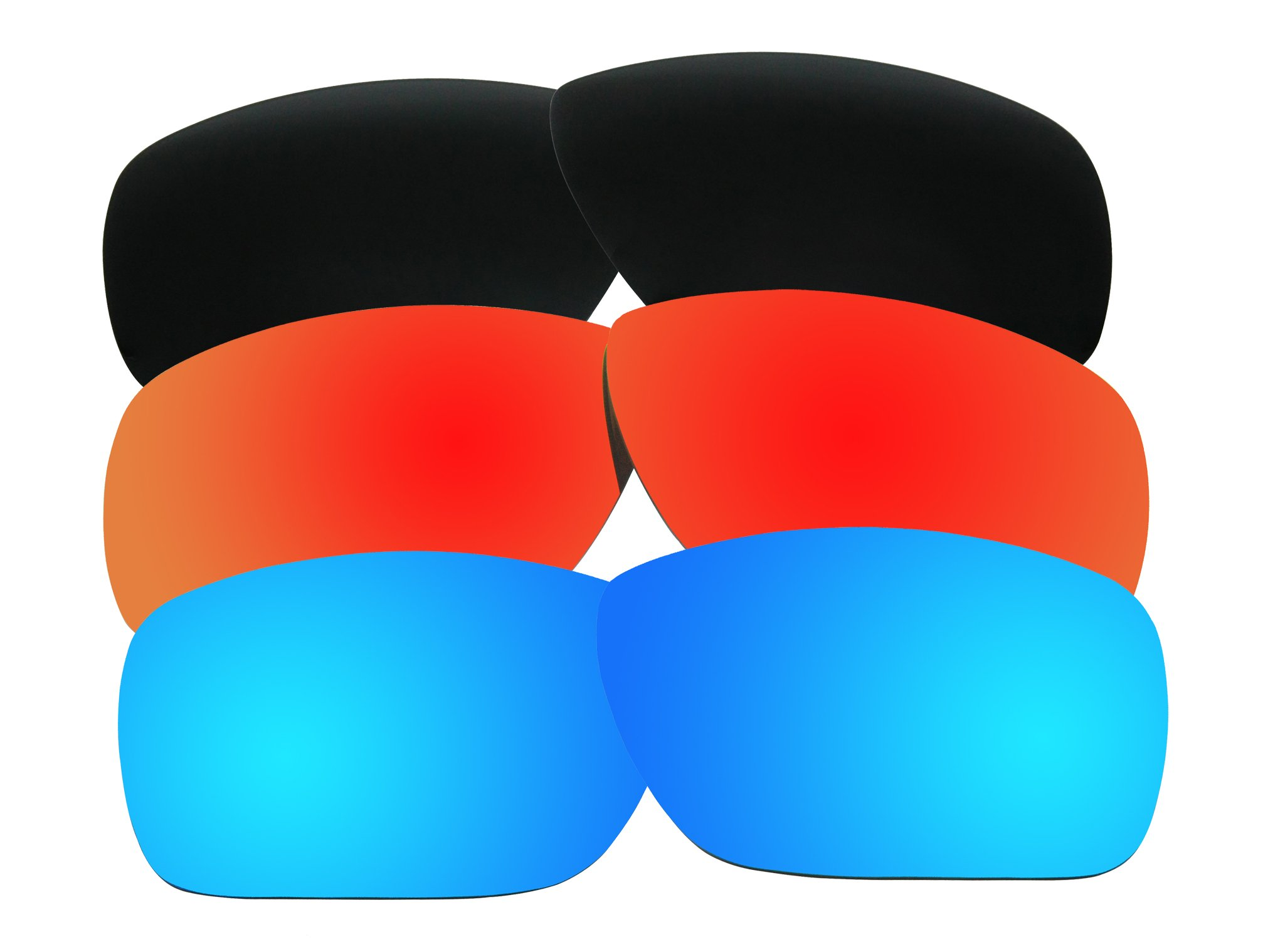 3 Pairs Polarized Replacement Sunglasses Lenses for Oakley Dispatch 1 with Excellent UV Protection