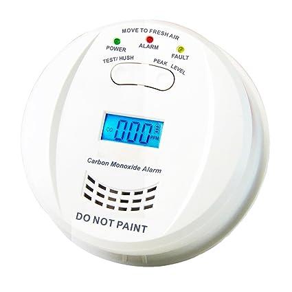 HEIMAN HM-723ESY - Detector de carbono independiente, con alarma, funciona a 3