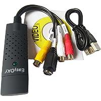 Grabber USB 2.0 Easyday pouraudio/video - Compatible avec Windows 10/7/8 - VHS-Adaptateur vidéo pour Xbox 360et PS3 Gameplay/S
