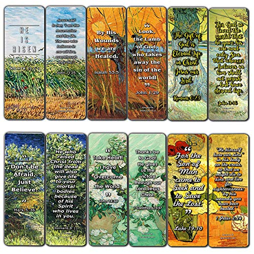 Christian Christmas Bookmarks - Bible Bookmarks Cards - Jesus has Risen (30 Pack) - John 3:16 Bookmarks for Christian Living Faith - Great Gifts for Easter Day, Thanksgiving, Christmas or Encouraging People
