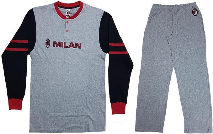 Pigiama Milan Ragazzo Abbigliamento Ufficiale AC Milan PS 12105-14 ...