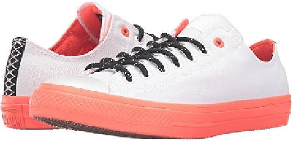 Nabo trigo novato  Converse Chuck Taylor All Star II Shield Canvas Ox White/Lava/Gum Lace up  casual Shoes: Amazon.co.uk: Shoes & Bags