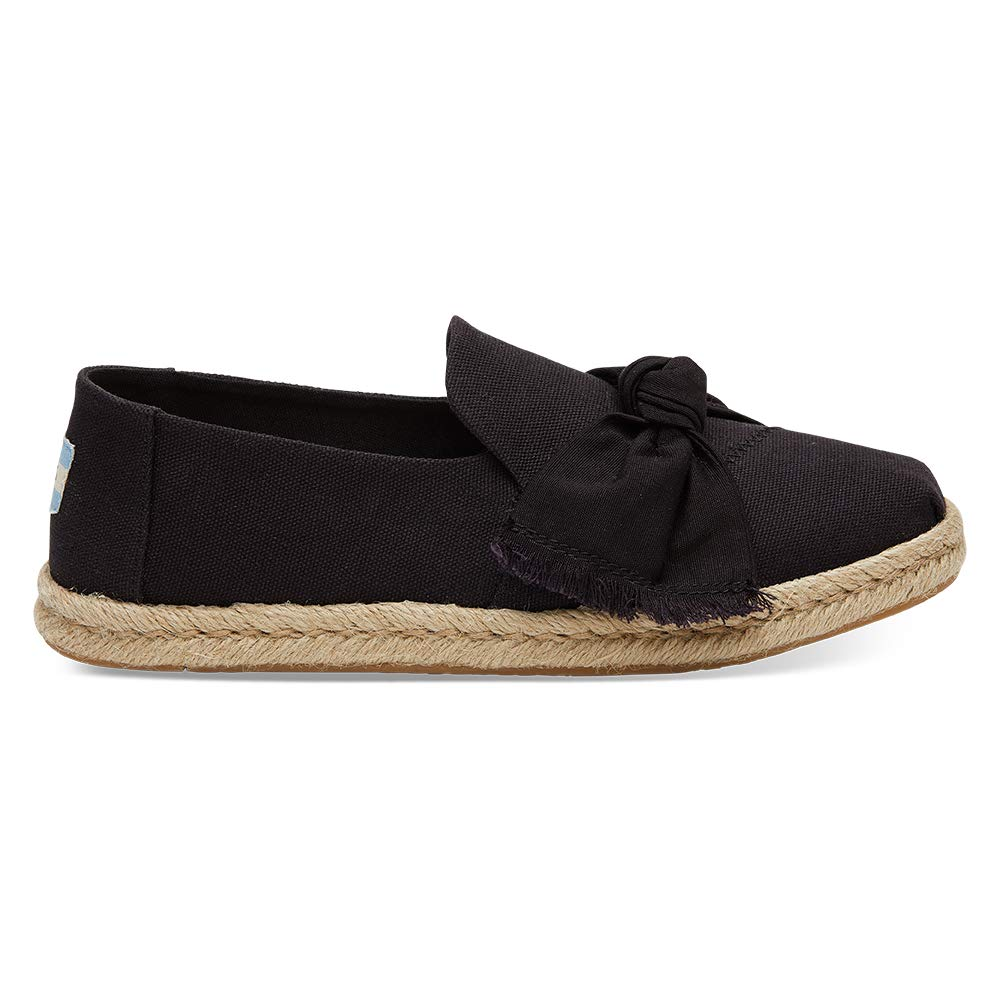 Amazon.com | TOMS Womens Deconstructed Alpargata Rope Black Canvas/Knot 8.5 B(M) US | Loafers & Slip-Ons