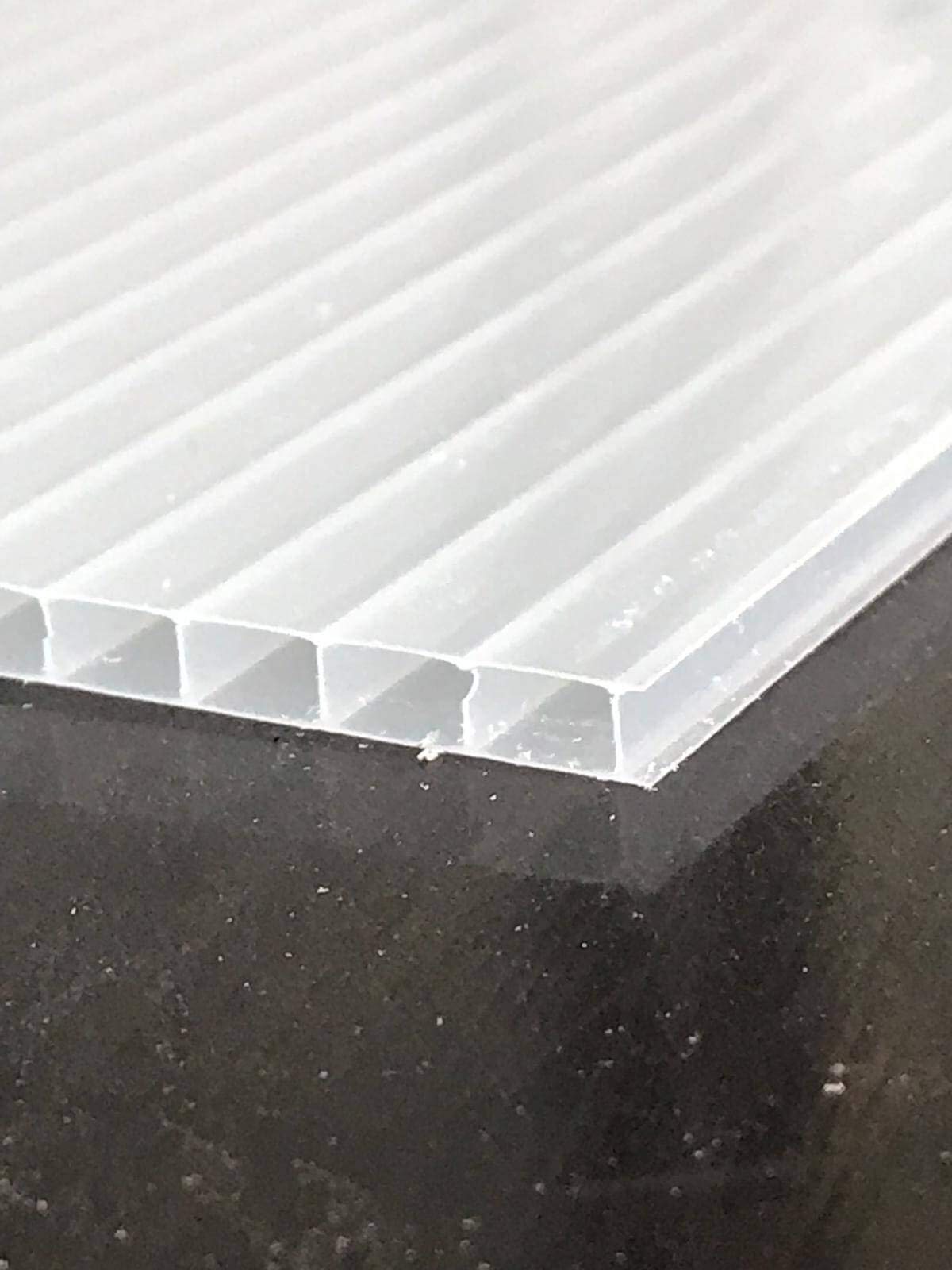 Width x Length 1.5 x 3m Clear 16mm Multiwall Polycarbonate Sheets Poly Plastic Roof Panel for Lean-to Canopy Conservatory