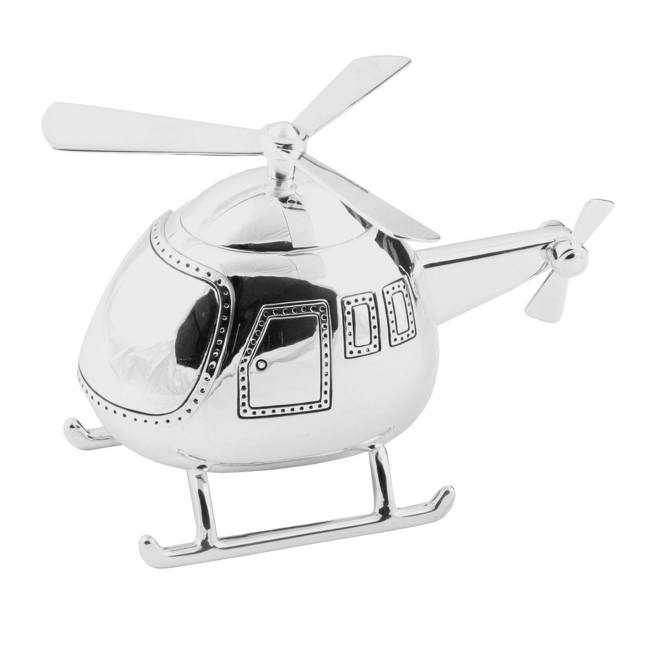 Christening Gifts. Boys Silver Helicopter Money Box BabyCentre 208L 56577868639