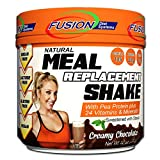 Fusion Plant Based Vegan Meal Replacement Protein Powder – Creamy Chocolate Flavor, Best Pure Raw Complete Sports Performance Shake, Gluten-Free, Sugar-Free, 10 Servings, by Fusion Diet Systems