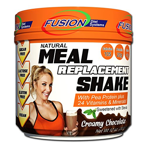 Diet System - Fusion Plant Based Vegan Meal Replacement Protein Powder – Creamy Chocolate Flavor, Best Pure Raw Complete Sports Performance Shake, Gluten-Free, Sugar-Free, 10 Servings, by Fusion Diet Systems