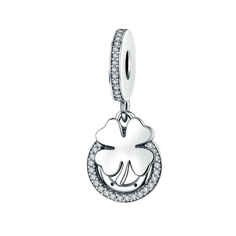EverReena Beads Four-Leaf Clover /& Horseshoe Lucky Day for Silver Bracelets