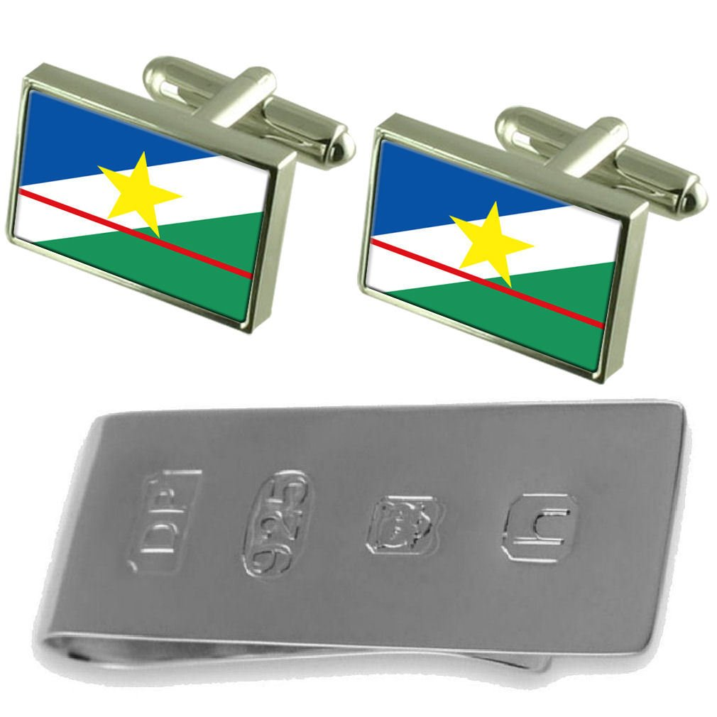 Select Gifts Roraima Flag Cufflinks /& James Bond Money Clip