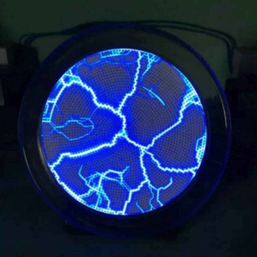 multicolore 6 ihch Color/é Disque Plasma Mini Poche Capteur de Plasma Plaque de Lumi/ère de D/écoration de Maison Disco Party PVC et Verre Performance