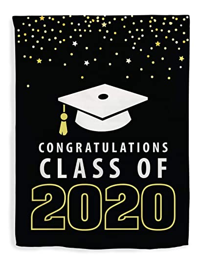 Graduation Images 2020.Thiswear Graduation Decor Congratulations Class Of 2020 Decorations Graduate Flag Vertical House Flag Grad
