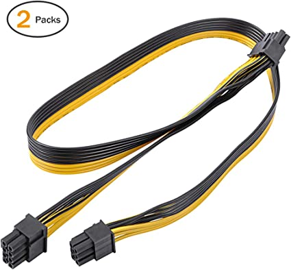 6Pin Female to 6Pin Male Double PCI-E Power Converter Cable for GPU Video Card