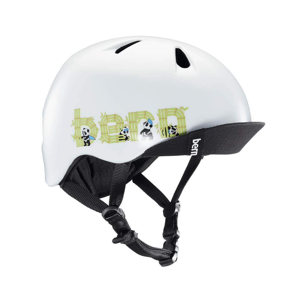 Bern Unlimited Nino Helmet w/ Flip Visor (Satin White Panda Logo, Small/Medium)