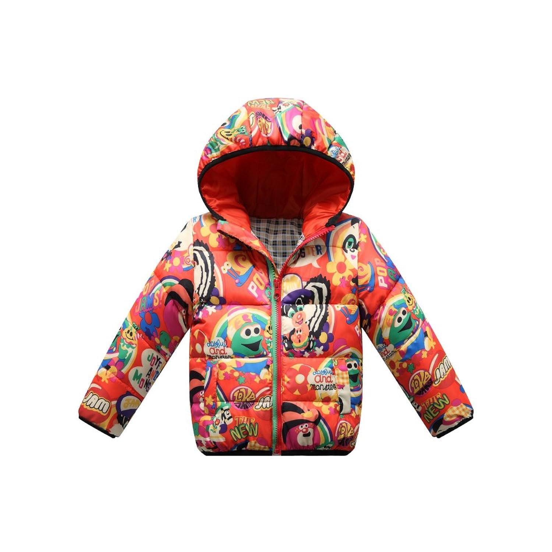 2335c7e3592bc8 kids Boy Girl Hooded Cartoon Down Jacket Winter Warm Coat Outwear ...