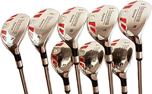 Senior Women s Golf Clubs All Ladies iDrive Hybrid Set Includes 3, 4, 5, 6, 7, 8, 9, PW. Lady L Flex Right Handed Utility Clubs with Premium Ladies Arthritic Grip. 60 Years Old