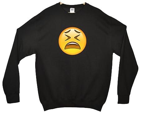 Tired Face Emoji Sweatshirt: Amazon co uk: Clothing