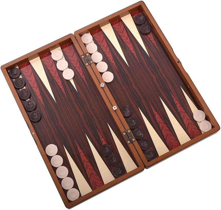 Master Games T76-Backgammon-Tavla Certificato da SEDEX, SGS, INTERTEK Magnetica-Big Size 48x24x6,00 cm