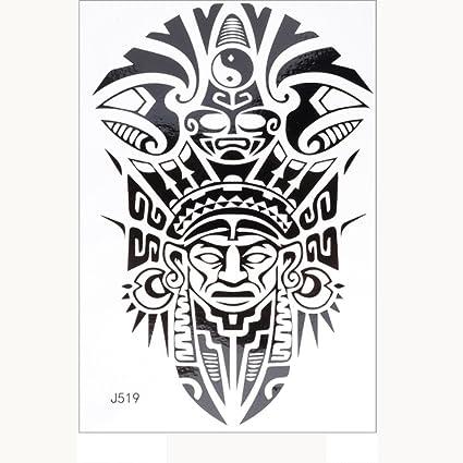 Imprimir Negro Tatuajes Yesmile Tatuajes Temporales Unisex