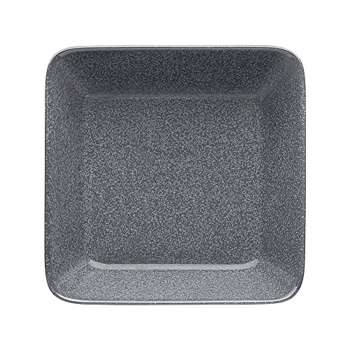 Iittala Teema Dotted Grey 6.25 Inch Square Plate by Kaj Franck