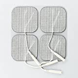 "Healsmile® 20 Packs Individual 2""x2"" Re-useable TENS & EMS Carbon Electrode Pads, Health Canada Approved and FDA Approved for Over The Counter (OTC) Use"